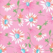 Moda - Good Day  - 6789 -  Modern Floral, Lazy Daisies on Bright Pink - 22371 15 - Cotton Fabric